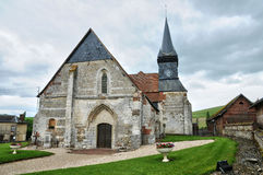 France, historical church of Sigy en Bray Royalty Free Stock Photography