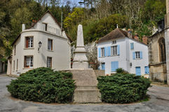 France, the historical village of La Roche Guyon Stock Photo