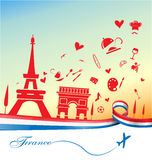 France holiday background Royalty Free Stock Photos