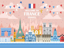 France holiday poster Royalty Free Stock Image