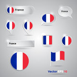 France icon set of flags Royalty Free Stock Photos