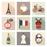 France icon set. Vector Illustration Royalty Free Stock Image