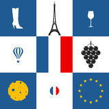 France. Icon set Royalty Free Stock Images
