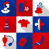France icons Stock Image