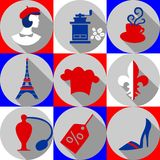 France-icons Royalty Free Stock Photos