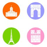 France icons set Stock Images