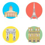 France icons set Royalty Free Stock Photography