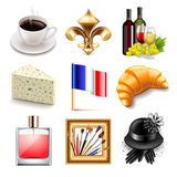France icons vector set stock illustration