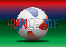 France 2016 illustration with football ball Stock Photo