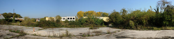 France, industrial wasteland in Les Mureaux Stock Image