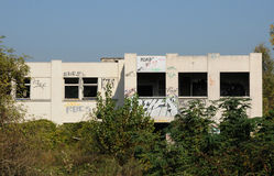 France, industrial wasteland in Les Mureaux Royalty Free Stock Photography