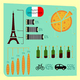 France infographic set. Stock Photos