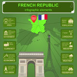 France infographics, statistical data, sights. Stock Photography