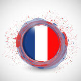 France ink circle flag illustration design Royalty Free Stock Image