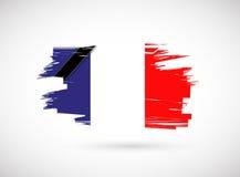 France ink flag illustration design Royalty Free Stock Image
