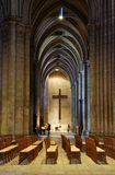 France. Interior of Cathedrale de Chartres stock photo