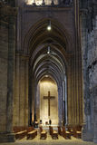 France. Interior of Cathedrale de Chartres Stock Images