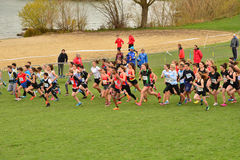 France, international cross country of les mureaux on leisure i Stock Photography