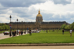 france invalidesles paris Royaltyfri Foto