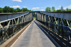 France, iron bridge of Lacave in Lot Royalty Free Stock Photo