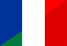 France italy flag Royalty Free Stock Photo