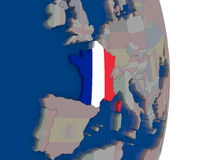 France with its flag Stock Image