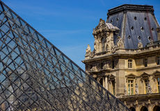 2007 france june louvre museum paris Διάσημο ιστορικό ορόσημο τέχνης στην Ευρώπη στοκ φωτογραφία με δικαίωμα ελεύθερης χρήσης