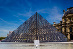 2007 france june louvre museum paris Διάσημο ιστορικό ορόσημο τέχνης στην Ευρώπη στοκ φωτογραφία