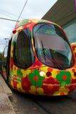 france kolorowy tramwaj Montpellier Obraz Royalty Free