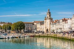 Promenade in the old port of La Rochelle France Royalty Free Stock Photography