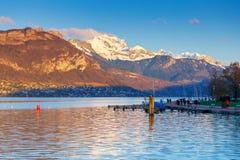 france Lago Annecy Fotografie Stock Libere da Diritti