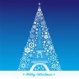 France landmark with Christmas tree Stock Photos