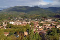 Scenic France - St-Chinian royalty free stock image