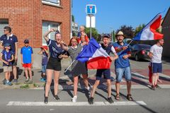 The French celebrate the victory of their football team in the final 8th royalty free stock image