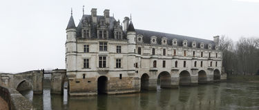 France. Loire Valley. Chenonceau castle. Panorama Stock Photo