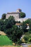 France lot bastide. Town of castelnau-montratier stock photography