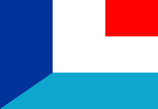 France luxembourg flag Stock Images