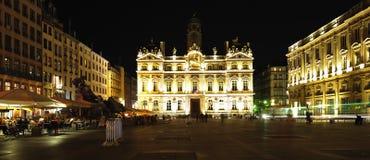 France, Lyon: Hotel de Ville- place des Terreaux Stock Image