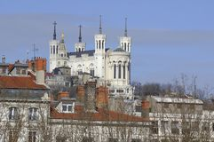 France; Lyon; Lyons;  the basilique de Fourviere Stock Photography