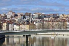 france lyon lyons flod saone Fotografering för Bildbyråer