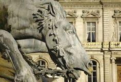 France; Lyon ou Lyons: estátua do cavalo imagens de stock royalty free