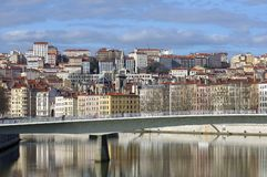 france Lyons rzeka Saone Lyon obraz stock