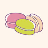 France Macarons theme elements vector,eps. Vector illustration file Stock Images