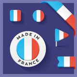 France Made Symbol Collection Stock Photography