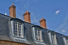 France, mansard roof of an old house Royalty Free Stock Photo