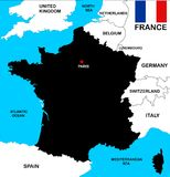 France Map Stock Image