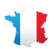 France map Royalty Free Stock Photos