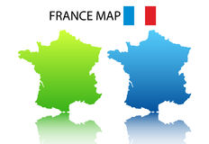 France map. Vector illustration of France map royalty free illustration