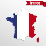 France map with France flag inside and ribbon Stock Photo