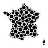 France map mosaic of circles Royalty Free Stock Images